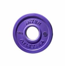 Диск обрезиненный InterAtletika фиолетовый 1,25 кг, код: LCA029-M