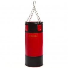 Мешок боксерский Цилиндр с кольцом и цепью Kepai черный-красный 600х250 мм, код: BB-2006