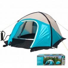 Палатка 3-местная двухслойная надувная Mimir 800 голубая, код: MM800-WS