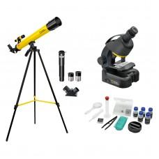 Микроскоп National Geographic Junior 40x-640x + Телескоп 50/600, код: 927790-SVA
