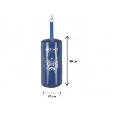 Мешок боксерский на ремнях Boyko-Sport Юниор ПВХ синий 400х200 мм, код: bs04094501-BK