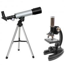 Мікроскоп Optima Universer 300x-1200x + Телескоп 50/360 AZ в кейсі, код: 928587-SVA