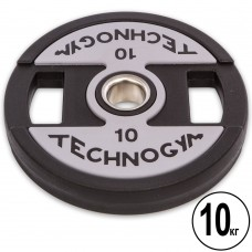 Диски полиуретановые Technogym с хватом и металлической втулкой 10кг (d-51мм), код: TG-1837-10-S52