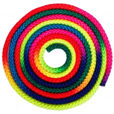 Скакалка для художньої гімнастики FitGo Веселка 3 м, код: C-0390