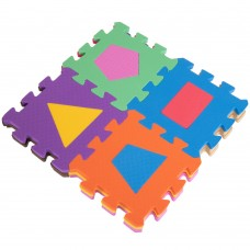 Килимок-мат пазл дитячий FitGo весела геометрія 135х135 мм (12шт), код: C-3526-S52