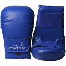 Перчатки для карате PowerPlay Blue S-XL, код: PP_3027_Blue