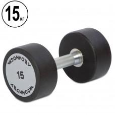 Гантель цельная профессиональная TechnoGym 1х15 кг, код: TG-1834-15