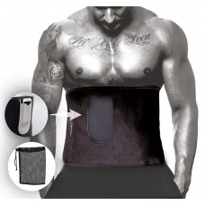 Пояс для схуднення PowerPlay 1250х300 мм з кишенькою для смартфона, код: PP_4301_Black_125_Pocket