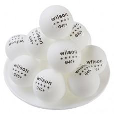 Шарики для настольного тенниса Wilson G40+ ***, 144 шт, код: WLS144