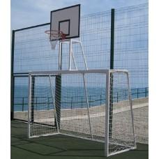 Ворота для футбола с баскетбольным щитом PlayGame 2500х1700 мм, код: SS00359-LD
