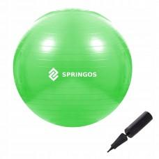 Мяч для фитнеса Springos 65 см Anti-Burst Green, код: FB0007