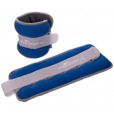 Обважнювачі-манжети для рук і ніг FitGo Maraton 2x2кг синій-сірий, код: FI-2858-4-S52