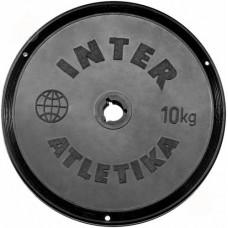 Диск InterAtletika чорний 10 кг, код: ST520.5B